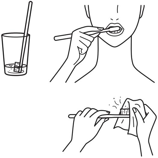水が少ないときの歯みがき